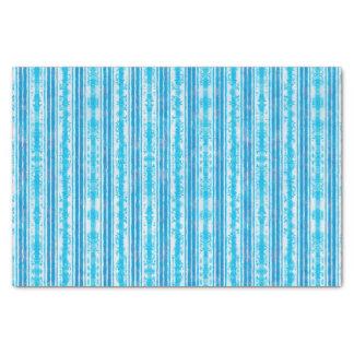 Papel De Seda Teste padrão listrado azul e branco