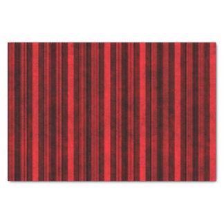 Papel De Seda Teste padrão listrado vermelho e preto