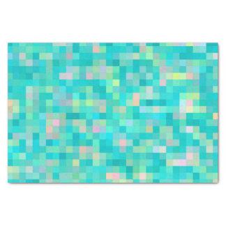 Papel De Seda Teste padrão multicolorido da arte do pixel