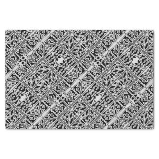 Papel De Seda Teste padrão ornamentado oriental escuro