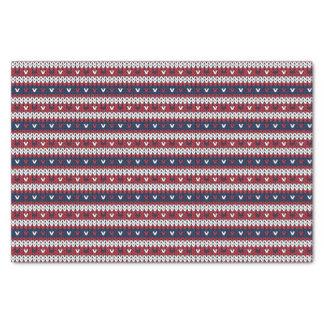Papel De Seda Teste padrão patriótico da camisola do Natal