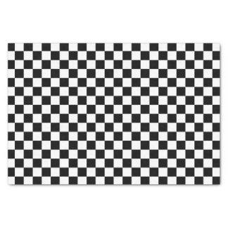 Papel De Seda Teste padrão preto e branco da verificação