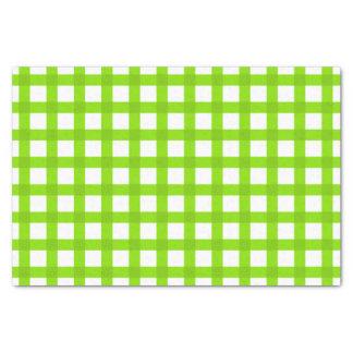 Papel De Seda Teste padrão verde do guingão