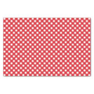 Papel De Seda Teste padrão vermelho do guingão do piquenique