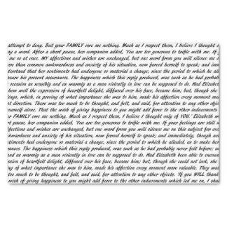 Papel De Seda Texto do orgulho e do preconceito