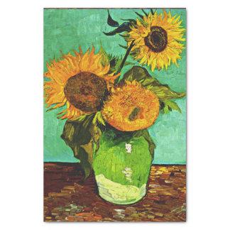 Papel De Seda Van Gogh - girassóis (3)