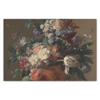 Papel De Seda Vaso da pintura clássica das flores
