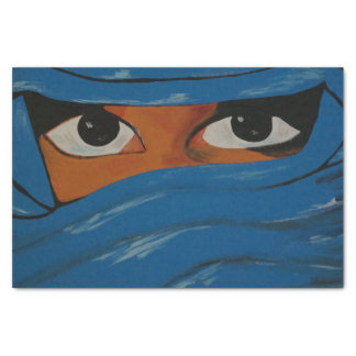 Papel De Seda Veiled em blue woman