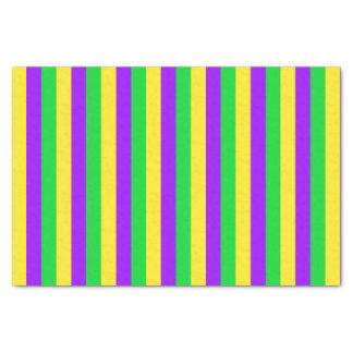 Papel De Seda Verde do carnaval, amarelo, roxo listrado