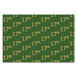 Papel De Seda Verde, evento do ouro do falso 17o (décimo sétimo)
