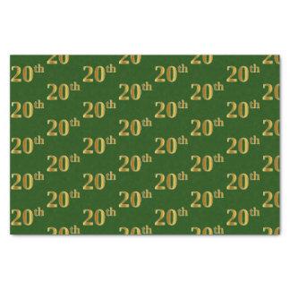 Papel De Seda Verde, evento do ouro do falso 20o (vigésimo)