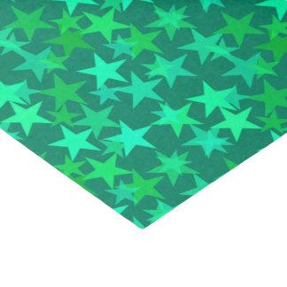 Papel De Seda Verde geométrico moderno das estrelas, da