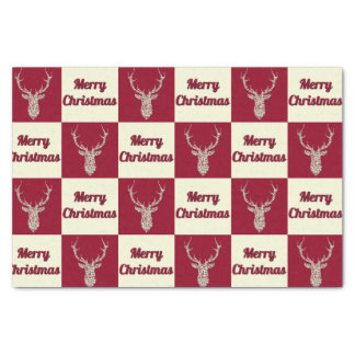 Papel De Seda Verificadores filigranas dos cervos do Natal