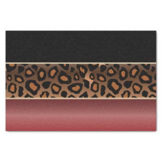 Papel De Seda Vermelho da grandada, preto e impressão de Jaguar