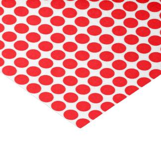 Papel De Seda Vermelho do impressão do teste padrão de Polkadot