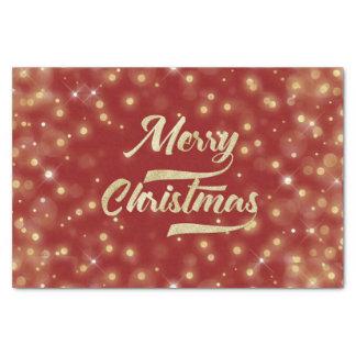 Papel De Seda Vermelho do ouro de Bokeh do brilho do Feliz Natal