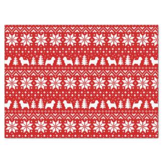Papel De Seda Vermelho do teste padrão do Natal dos terrier
