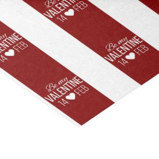 Papel De Seda Vermelho e branco seja meu coração dos namorados