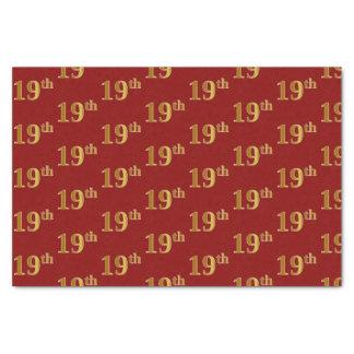 Papel De Seda Vermelho, evento do ouro do falso 19o (décimo