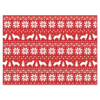 Papel De Seda Vermelho revestido liso do teste padrão do Natal