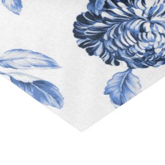 Papel De Seda Vintage azul Toile floral No.2 da pervinca
