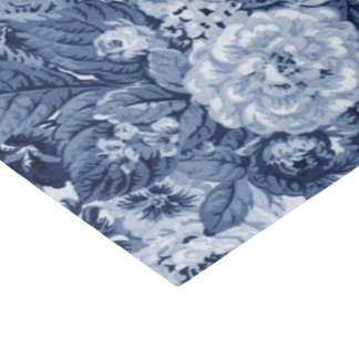 Papel De Seda Vintage azul Toile floral No.3 da pervinca