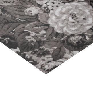 Papel De Seda Vintage cinzento amarelo Toile floral No.3 do