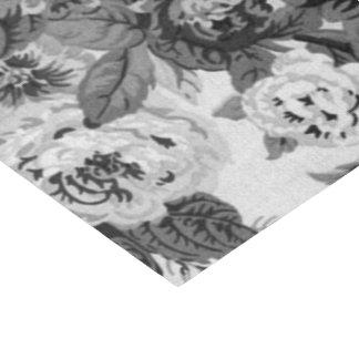 Papel De Seda Vintage preto & branco Toile floral No.3A