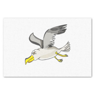 Papel De Seda Vôo da gaivota dos desenhos animados aéreo