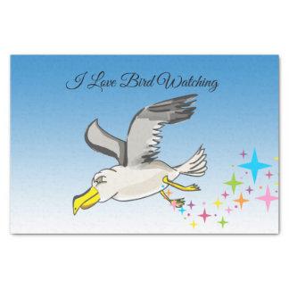 Papel De Seda Vôo da gaivota dos desenhos animados aéreo com um