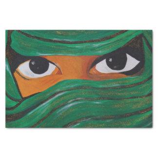 Papel De Seda Woman dark Veiled em green