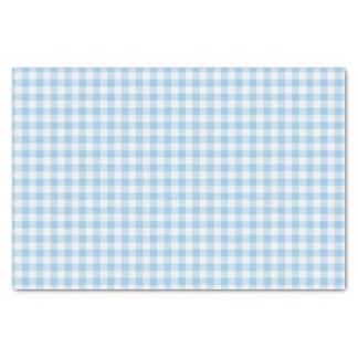 Papel De Seda Xadrez azul e branca do guingão