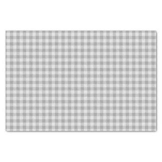 Papel De Seda Xadrez cinzenta e branca do guingão