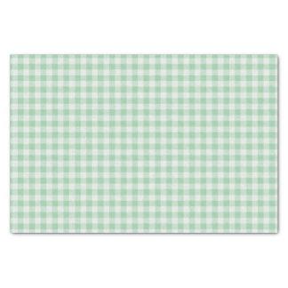 Papel De Seda Xadrez verde e branca do guingão