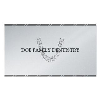 Papel dental da platina dos dentes do escritório d cartões de visitas
