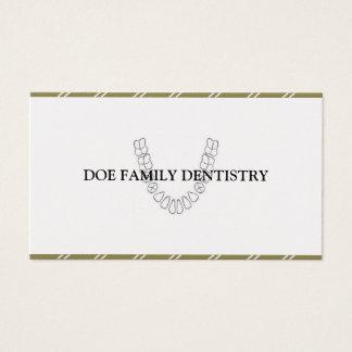 Papel dental do ouro dos dentes do escritório do cartão de visitas