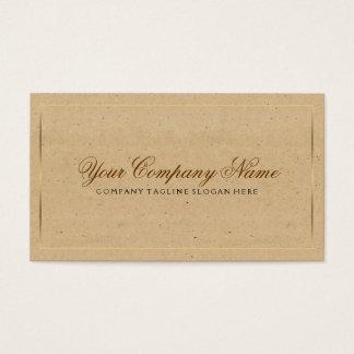 Papel do artesanato do vintage com beira do ouro cartão de visitas