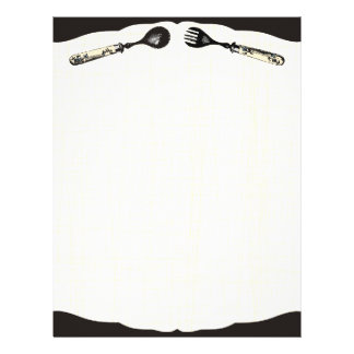 papel do menu da receita da comida do cozinhar da  papel de carta