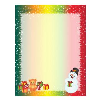 Papel do Natal do reciclado - design do boneco de  Papel Timbrado