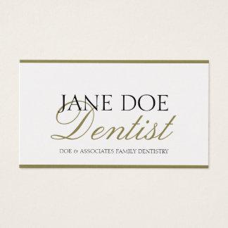 Papel do ouro do roteiro da odontologia da família cartão de visitas