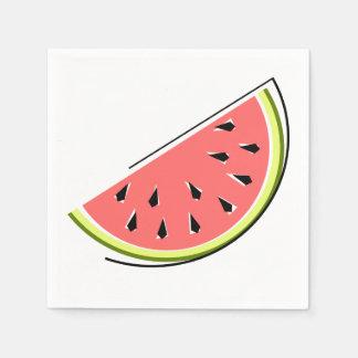 Papel dos guardanapo da fatia da melancia