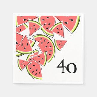 Papel dos guardanapo da idade 40 da melancia