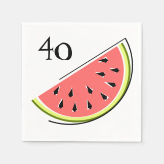 Papel dos guardanapo da idade da fatia da melancia