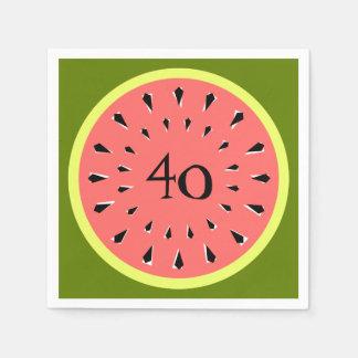 Papel dos guardanapo da idade do rosa 40 da