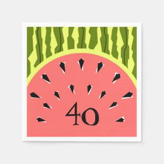 Papel dos guardanapo da idade do rosa 40 da listra