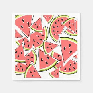 Papel dos guardanapo da melancia