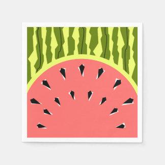 Papel dos guardanapo do rosa da listra da melancia