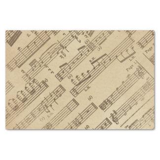 Papel envelhecido da folha de música do vintage