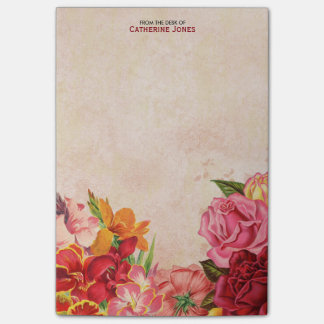 Papel floral | do vintage do vintage elegante | sticky notes