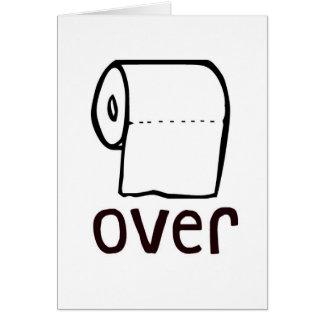 Papel higiénico do TP sobre o cartão